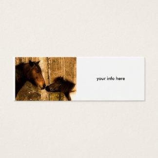 Equine Love Business Card- skinny Mini Business Card