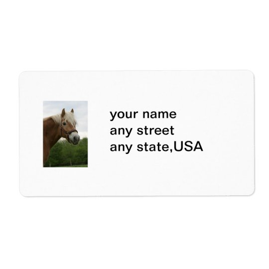 equine mailing labels