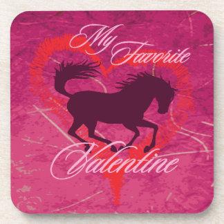 Equine Valentine Cork Coaster