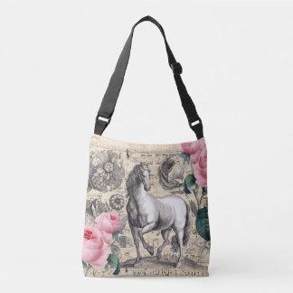 equine vintage music crossbody bag