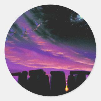 Equinox Round Sticker