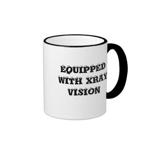 EQUIPPED WITH XRAY VISION MUG