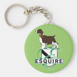 Equire English Springer Spaniels Basic Round Button Key Ring