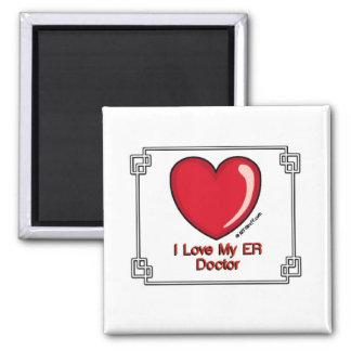 ER Doctor Square Magnet