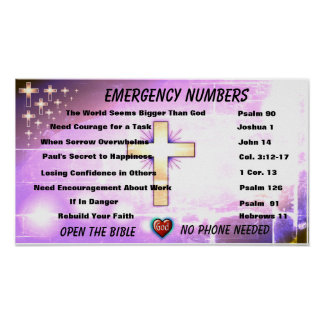 ER Numbers for Christians Graphic Poster
