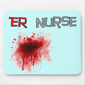 ER  Nurse Funny T-Shirts & Gifts Mouse Pad
