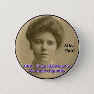 ERA button with Alice Paul
