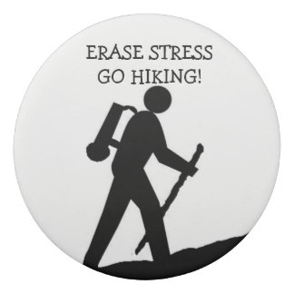 Erase Stress Go Hiking Eraser