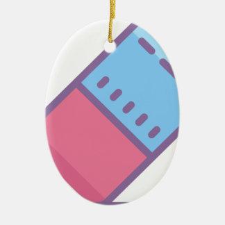 Eraser Ceramic Ornament