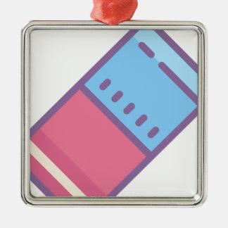 Eraser Metal Ornament