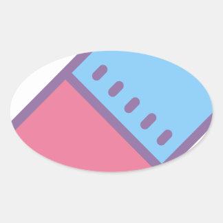 Eraser Oval Sticker