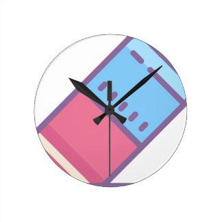 Eraser Round Clock