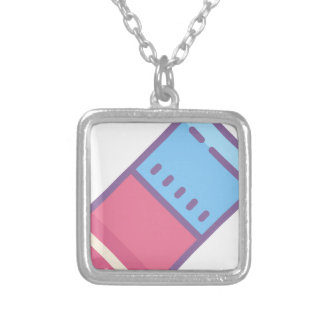 Eraser Silver Plated Necklace