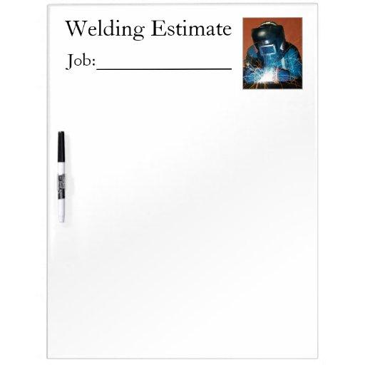 Erasible Measurements White Board for Welders Dry-Erase Whiteboard