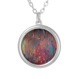 Erba dopo un incendio silver plated necklace