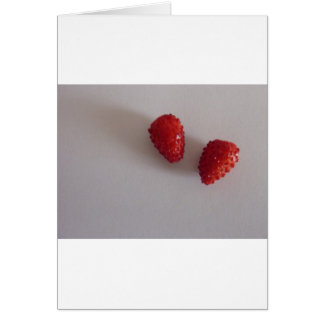 Erdbeeren als Herz Karte