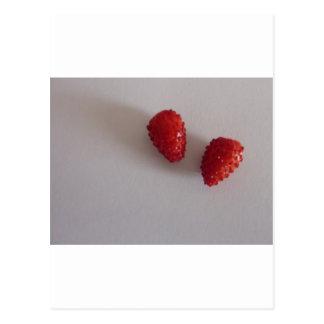 Erdbeeren als Herz Postkarten