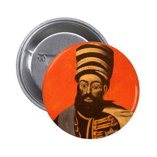 Erekle II of Georgia by Niko Pirosmani Pinback Button