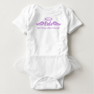 Erela girls name & meaning angel wings purple baby bodysuit