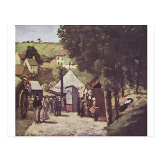 Eremitage, Pontoise by Paul Cezanne Postcard