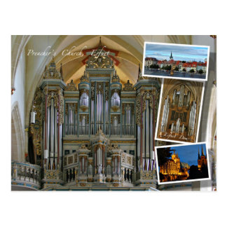 Erfurt and organs postcard
