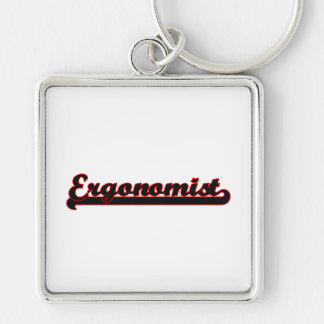 Ergonomist Classic Job Design Silver-Colored Square Key Ring