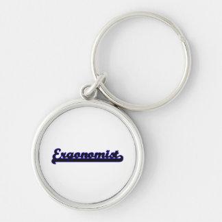 Ergonomist Classic Job Design Silver-Colored Round Key Ring