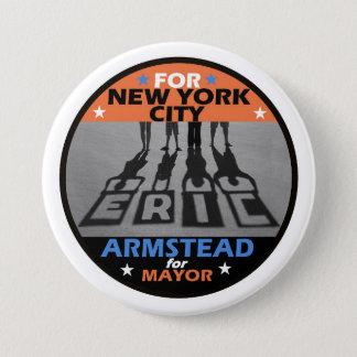 Eric Armstaed NYC Mayor 2017 7.5 Cm Round Badge