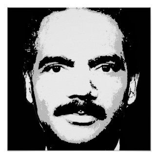ERIC HOLDER STAMP INK ART POSTER