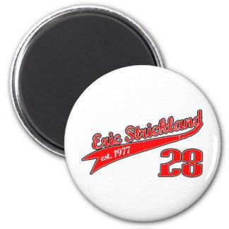 Eric Strickland Baseball Logo Refrigerator Magnet