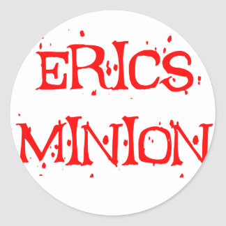 Erics Minion Round Sticker
