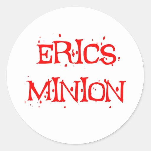 Erics Minion Round Stickers