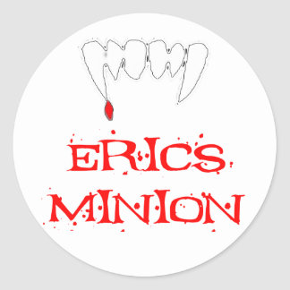 Erics Minion Round Stickers