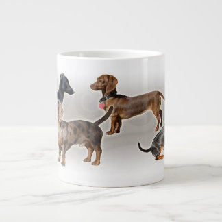 Eridox dachshund collage jumbo mug