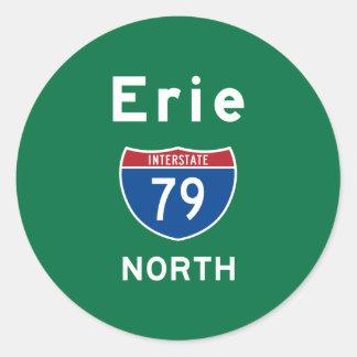Erie 79 round sticker