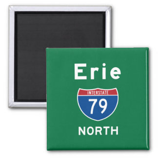 Erie 79 square magnet