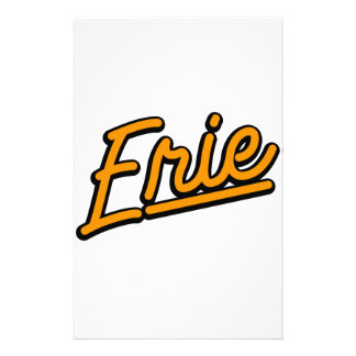 Erie in orange personalized stationery