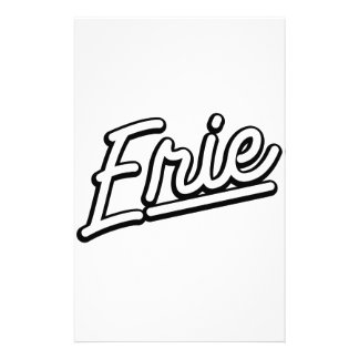 Erie in white customized stationery