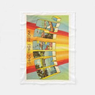 Erie Pennsylvania PA Old Vintage Travel Souvenir Fleece Blanket