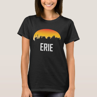 Erie Pennsylvania Sunset Skyline T-Shirt
