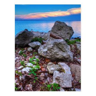 Erie Sunset Postcard