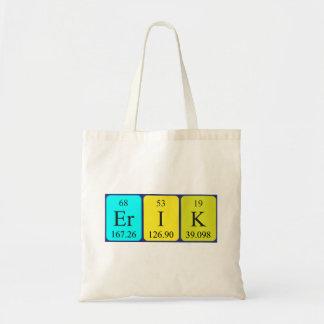 Erik periodic table name tote bag