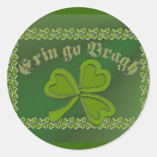 Erin go Bragh FetteFraD 2100X1500 sm SHAMROCK FRAM Stickers