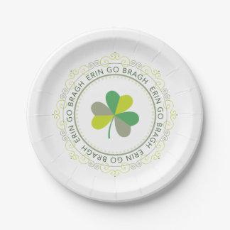 Erin go Bragh, Ireland Forever 7 Inch Paper Plate