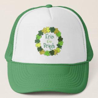 Erin Go Bragh Ireland Forever Green Shamrock Hat