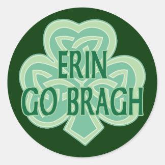 Erin Go Bragh Round Sticker