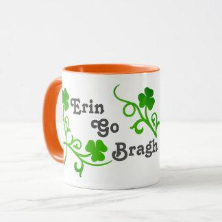 Erin Go Bragh Shamrock Mug