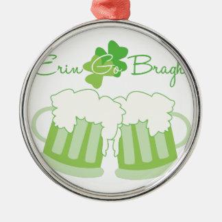 Erin Go Bragh Silver-Colored Round Decoration