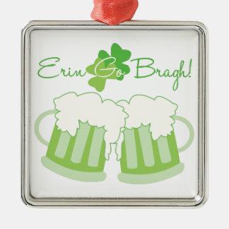 Erin Go Bragh Silver-Colored Square Decoration