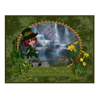 Erin Go Bragh St Patrick's Day Postcard